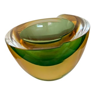 Luigi Onesto Two-Tone Glass Bowl For Sale
