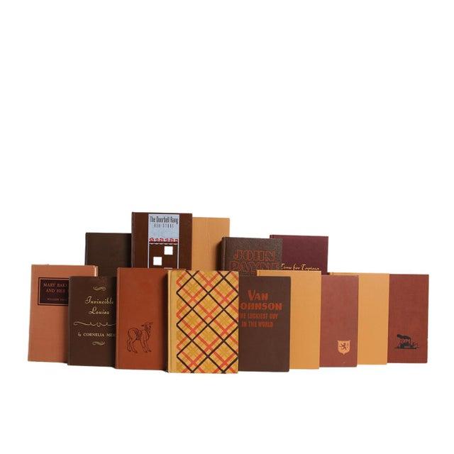 Midcentury Mix: Chocolate & Caramel - Twenty Decorative Books. Twenty midcentury era books featuring a variety of fiction...