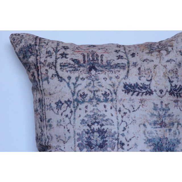Vintage Turkish Blue Print Pillow Covers - A Pair For Sale - Image 4 of 6