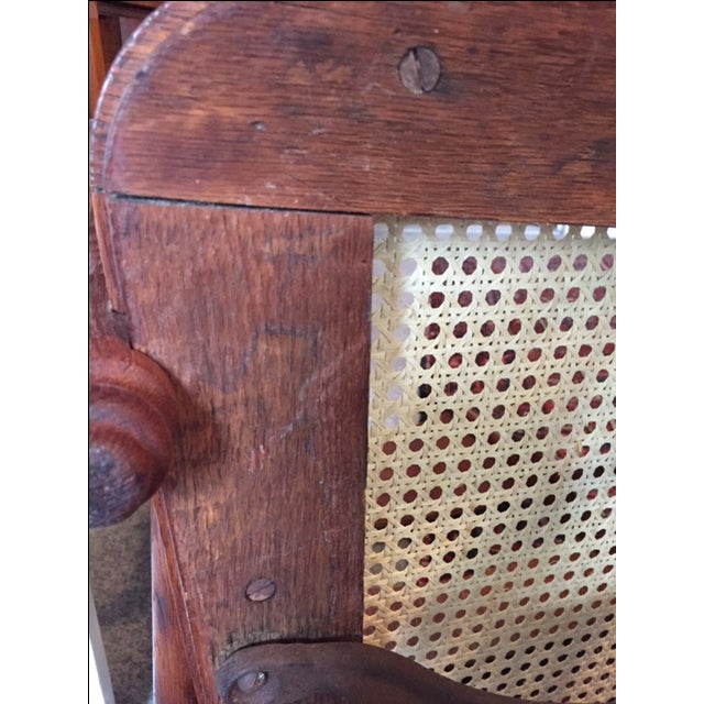 1940s Vintage Cane Office Chair - Image 8 of 8