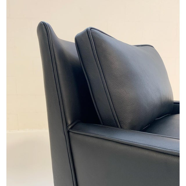Paul McCobb for Directional Model 302 Lounge Chair in Loro Piana Bufalo Leather For Sale In Saint Louis - Image 6 of 9
