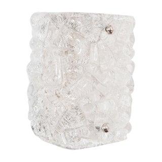 "1970s Kalmar Single ""Ice Glass"" Sconce For Sale"