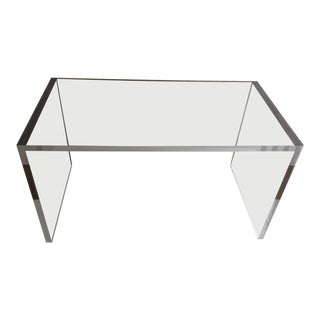 Contemporary Lucite Desk