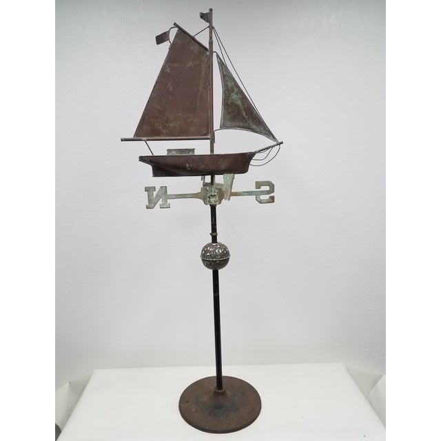 Antique Copper Boat Weathervane We thought this weathervane could be used indoors or outdoors with its stand. The copper...