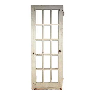 Vintage Salvaged 15 Lite White French Door