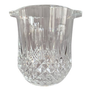 Heavy Cut Crystal Beveled Ice Bucket For Sale