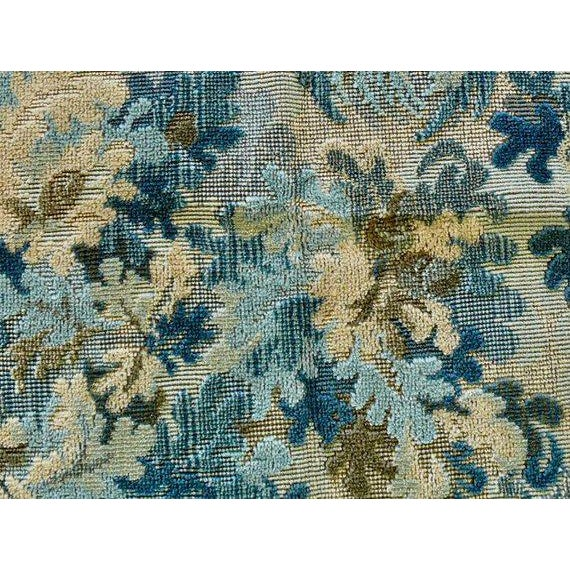 """Textile Brunschwig and Fils """"Great Ming"""" Twilight Velvet Pillows - a Pair For Sale - Image 7 of 8"""