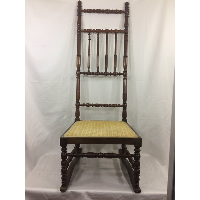 Yellow Napoleon III High Back Spindle Chair For Sale - Image 8 of 8