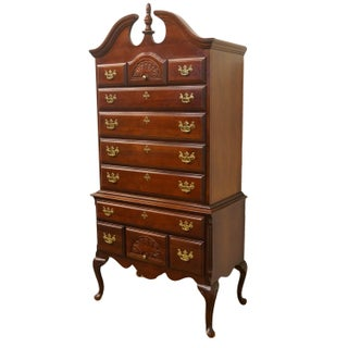 """20th Century Queen Anne Sumter Cabinet Co. Solid Cherry 38"""" Highboy Chest Preview"""