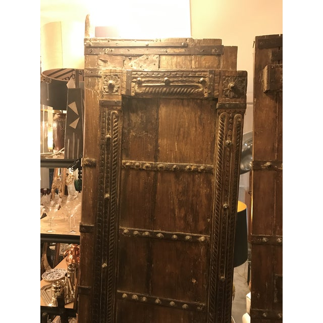 Original Antique Salvaged Hand-Made Indian Doors For Sale - Image 9 of 12