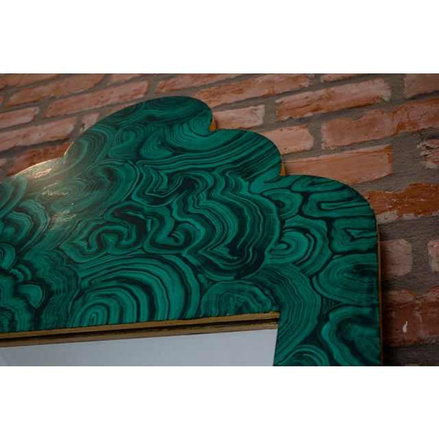 Green Malachite Wall Mirror For Sale - Image 11 of 13