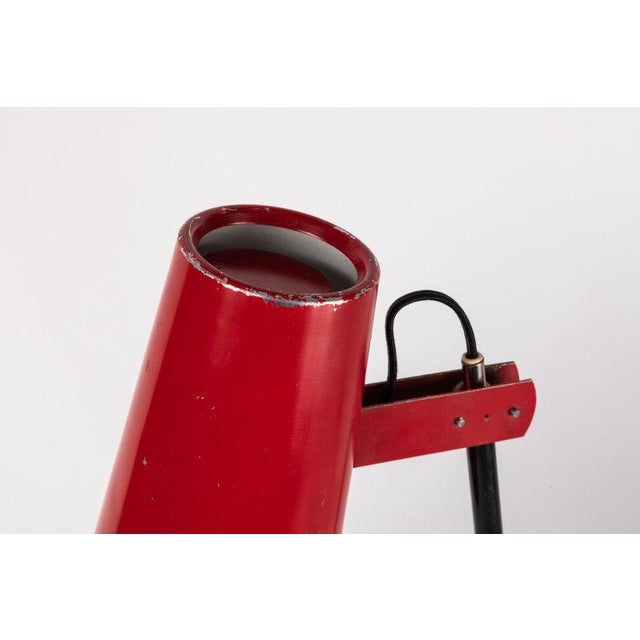 1950s Yki Nummi Red Table Lamp for Orno For Sale - Image 9 of 13