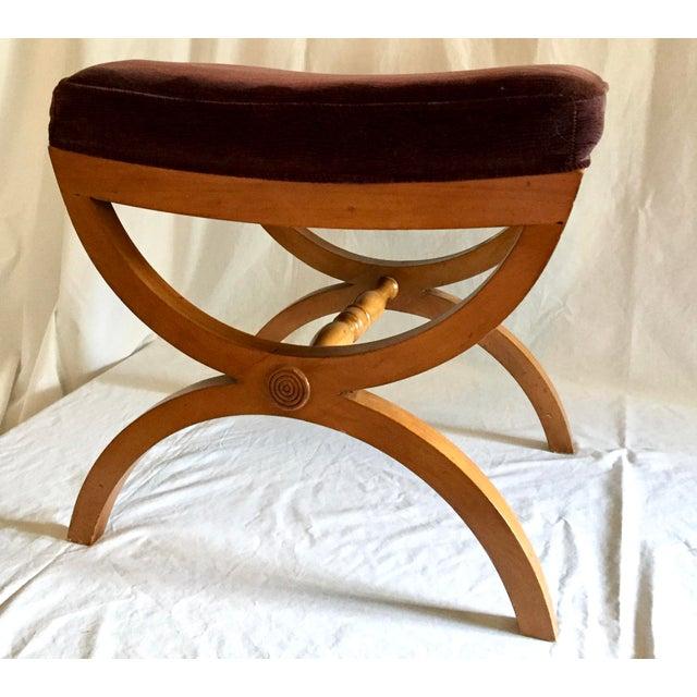 Vintage Oak Vanity Seat - Image 2 of 5