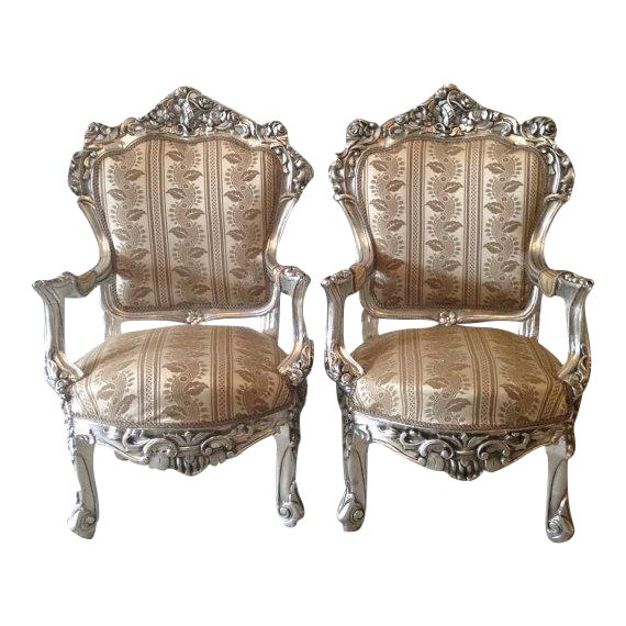 Italian Baroque Chairs in Gold Leaf - Pair - Image 1 of 5