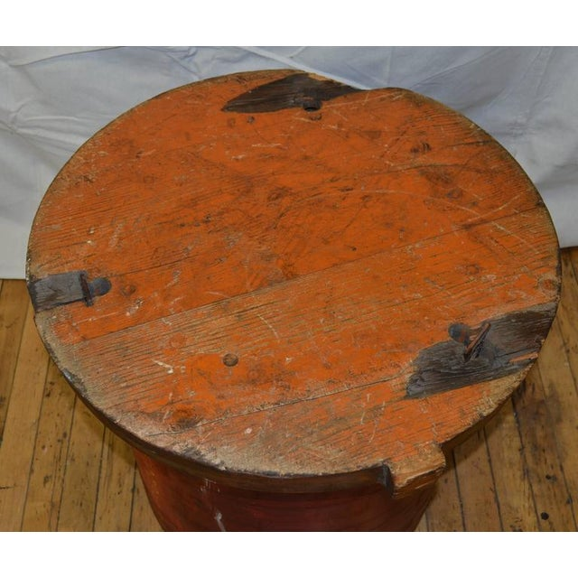Red Industrial End Table For Sale - Image 8 of 10