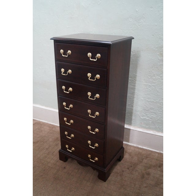 A Davis Cabinet Co. solid mahogany Chippendale style lingerie chest that is approximately 30 years old and was made in...