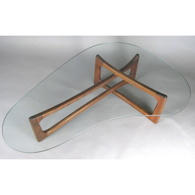 Mid-Century Modern Sculptural Walnut and Glass Cocktail Table by Adrian Pearsall For Sale In New York - Image 6 of 7