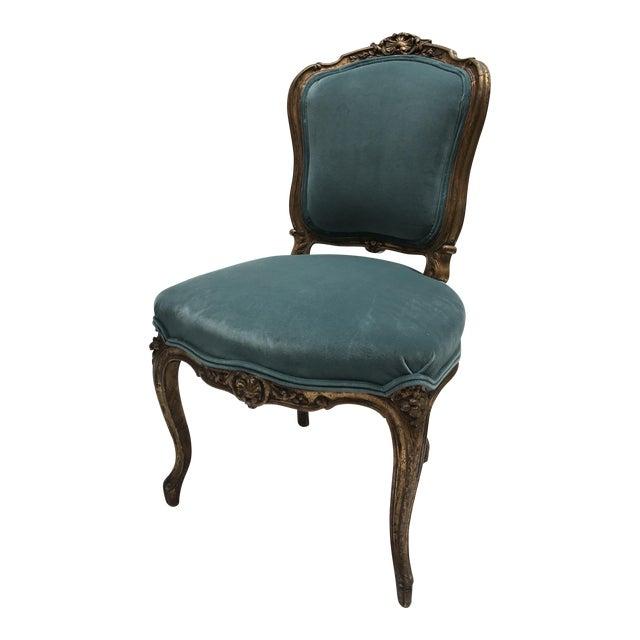 Antique Gilt Ballroom Chair For Sale