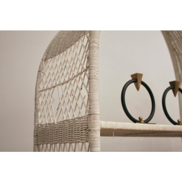 Danny Ho Fong-Style Wicker Etageres, Set of 2 For Sale - Image 10 of 12