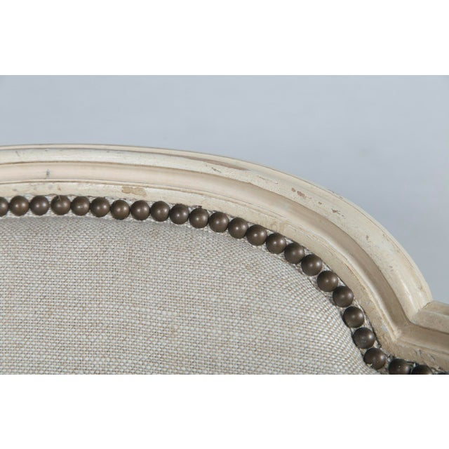 French Louis XVI Style Bergeres - a Pair For Sale - Image 9 of 10