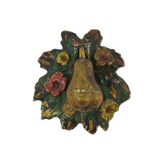 Antique Pear Door Knocker For Sale