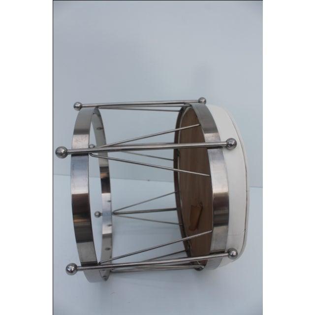 George Koch Mid-Century Vinyl & Chrome Drum Stool For Sale - Image 5 of 11