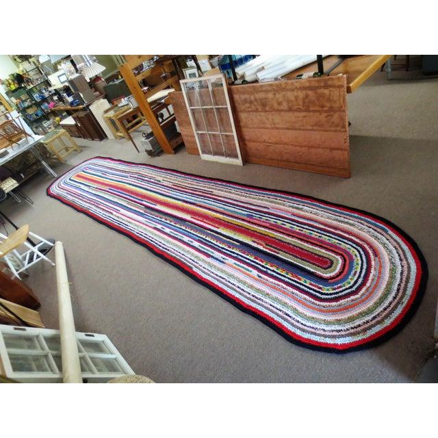 Modern Braided Rag Rug- 4′ × 20′6″ For Sale - Image 13 of 13