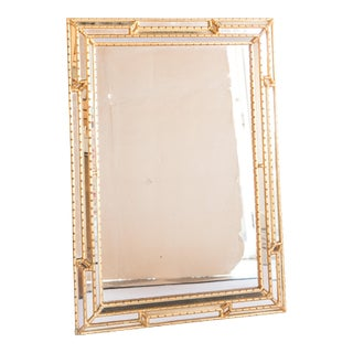 1960's Italian Gilt Carved Wood Wall Mirror