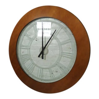 Large Vintage Modern Style Wall Clock For Sale