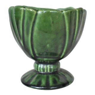 Vintage Green Footed Cachepot For Sale