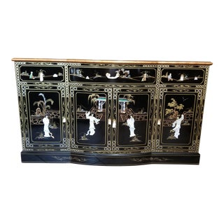 Black Lacquer & Mother of Pearl Chinese Cabinet