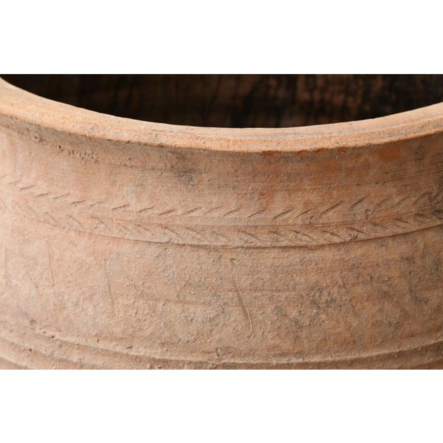 Orange Antique Greek Olive Jar For Sale - Image 8 of 12