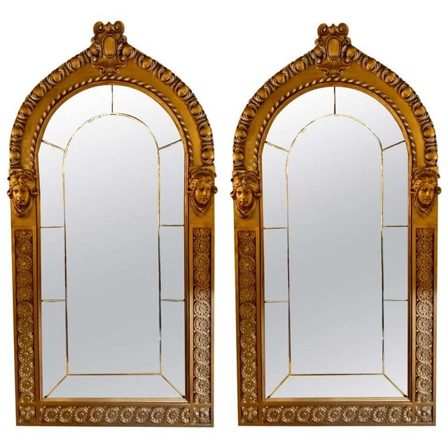 Pair of Neoclassical Wall or Console Mirrors, Giltwood Carved For Sale - Image 13 of 13
