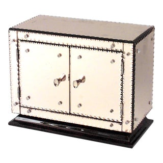 French Mirrored Miniature Cabinet For Sale