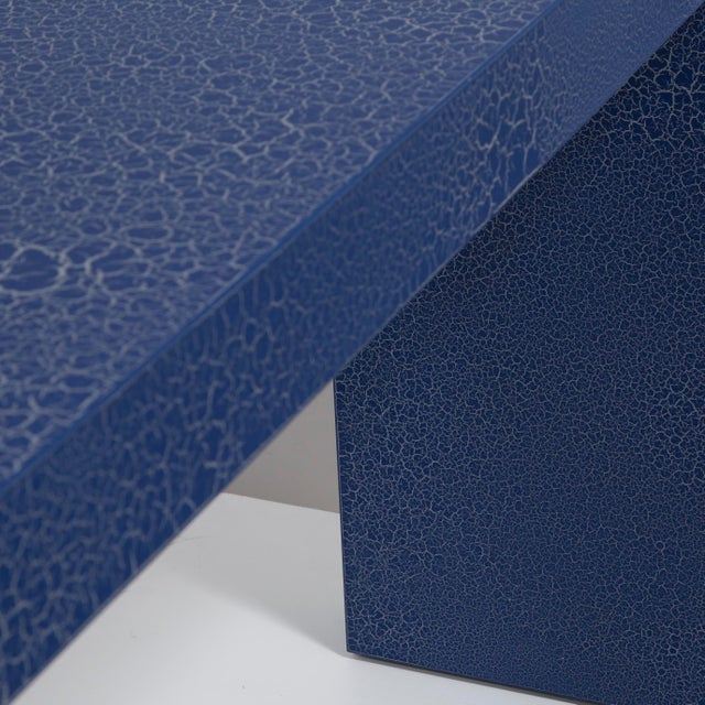 The Crackle Console Table by Talisman Bespoke (Navy and Silver) For Sale - Image 6 of 6