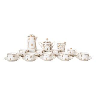 French 18th Century Sèvres Porcelain Hot Chocolate Set - 21 Pc. Set For Sale
