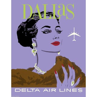 Vintage Reproduction Dallas Travel Poster