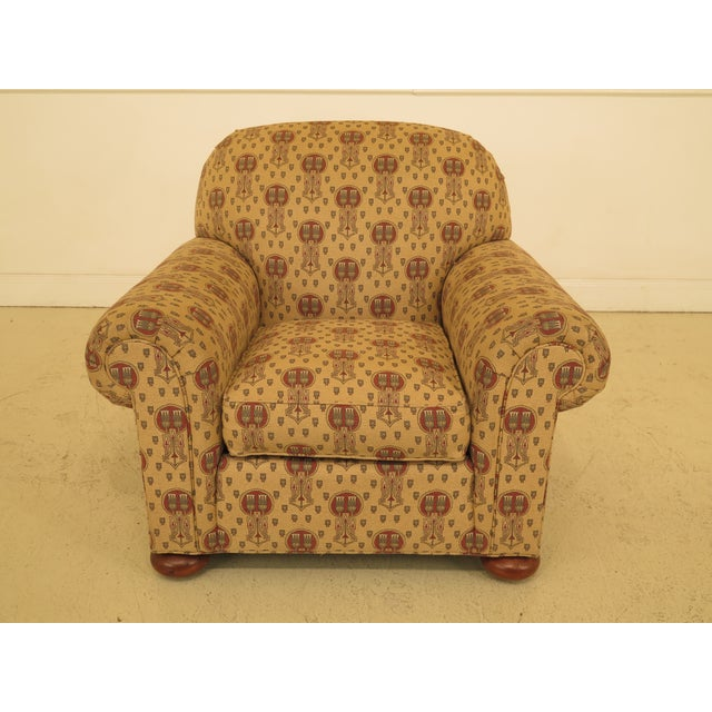 Stickley Native American Print Upholstered Club Chair For Sale - Image 11 of 11