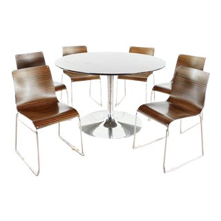 Italian Calligaris Dining Set - 7 Pieces For Sale