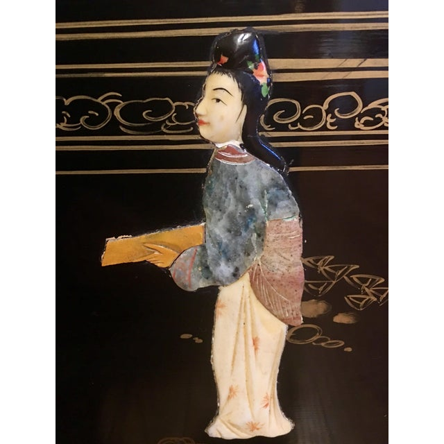 Late 20th Century Chinoiserie Wall Art With Semi Precious Stones For Sale - Image 5 of 9