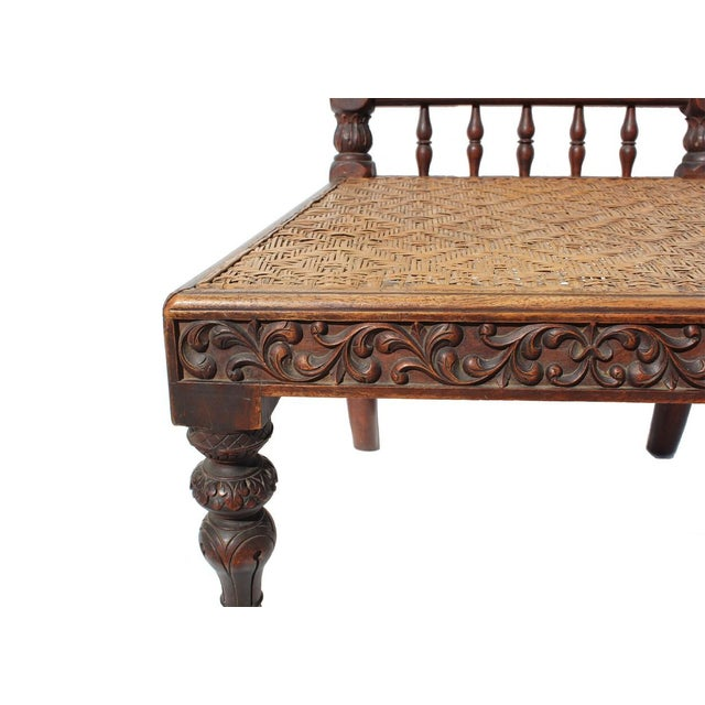Antique Portuguese Carved Chair - Image 3 of 4