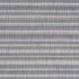 Schumacher Petra Stripe Fabric in Indigo For Sale