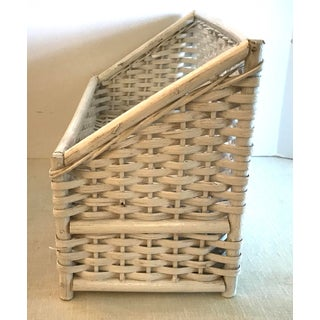 Vintage White Wicker Letter Box Preview