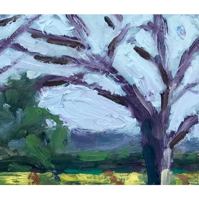2020s Suisun Valley Mustard Grass Original Landscape Oil Painting For Sale - Image 5 of 12