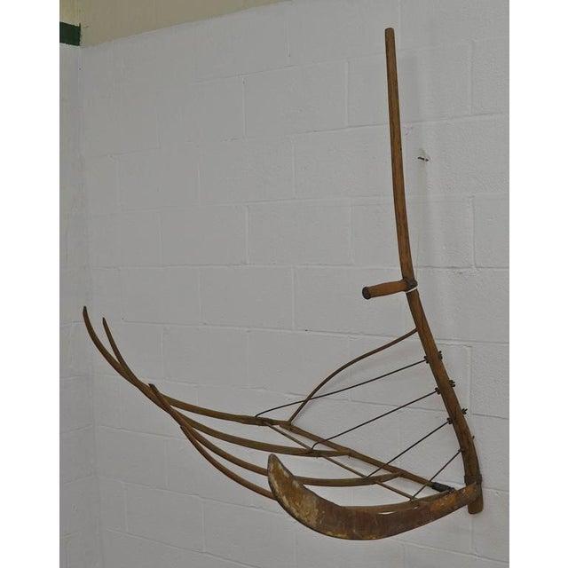Antique Ash Cradle Scythe - Image 2 of 3
