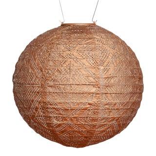 Soji Stella Outdoor Solar Market Lantern in Copper For Sale