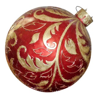 Vintage Christmas Store Display/Prop Fiberglass Christmas Ornament For Sale