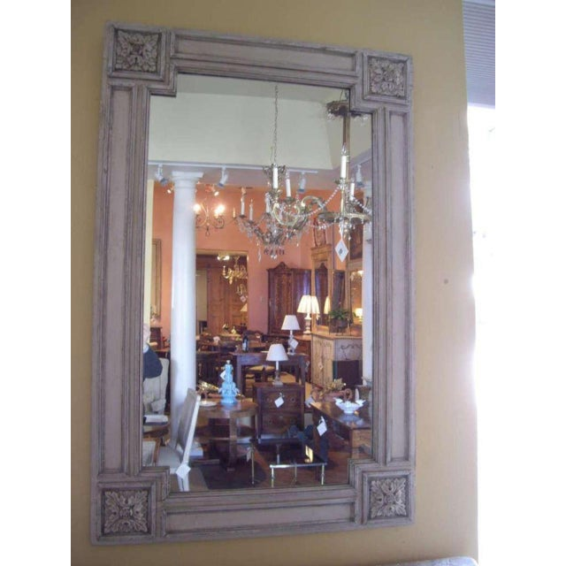 Italian 19th Century Italian Painted Church Frame Wall Mirror For Sale - Image 3 of 9