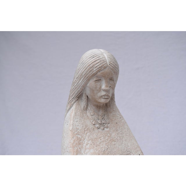 Ceramic Austin Productions Native American Woman & Child For Sale - Image 7 of 10