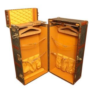 1920s-1930s Goyard Trunk, Goyard Wardrobe Double Hanging Section Steamer Trunk For Sale
